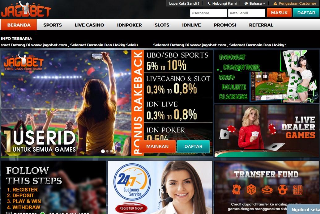 Penjelasan di dalam game Live Casino Online